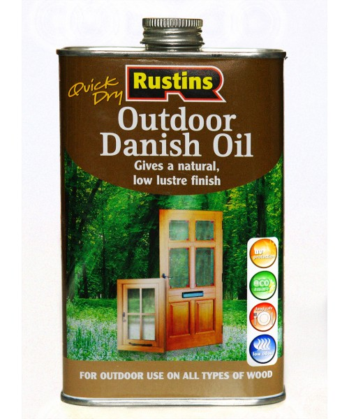 Датское масло для наружного использования Rustins Quick Dry Outdoor Danish Oil