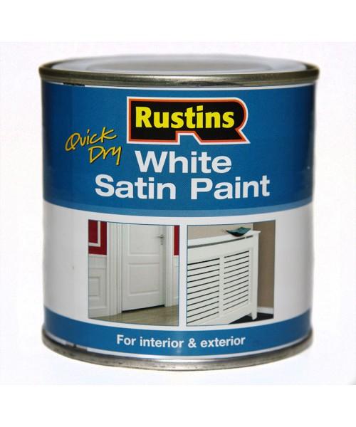 Быстросохнущая полуматовая белая краска Q/D White Satin Paint
