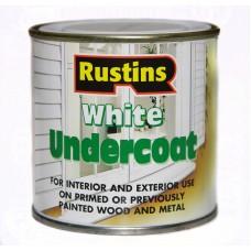 Шпатлевка для дерева и металла Белая Rustins White Underсoat
